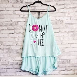 Other - Donut touch my coffee Pajamas set 🍩☕️